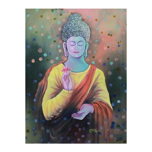Framelessoil Paintings Canvas Colorful Buddha Sitting Wall: 17 Best Ideas About Lotus Flower Buddhism On Pinterest