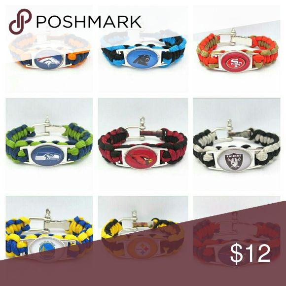 Nwt Paracord bracelets $12 each 20 cm + 2 cm adjustable  Unisex 15% off  bundles  Great for that fan Jewelry Bracelets