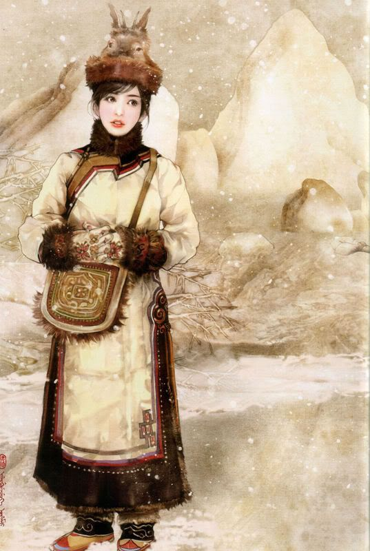 Hand painted illustrations of 56 ethnic groups from China - Chen Shu Fen