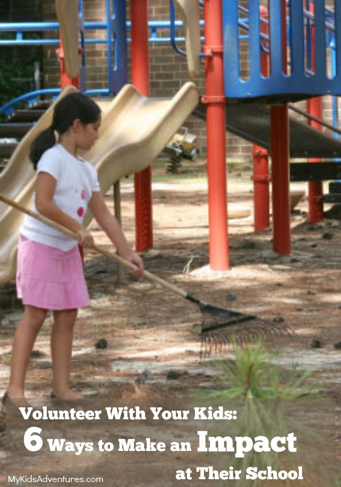 Volunteer activities you and your family can do to make a difference at your children's school.