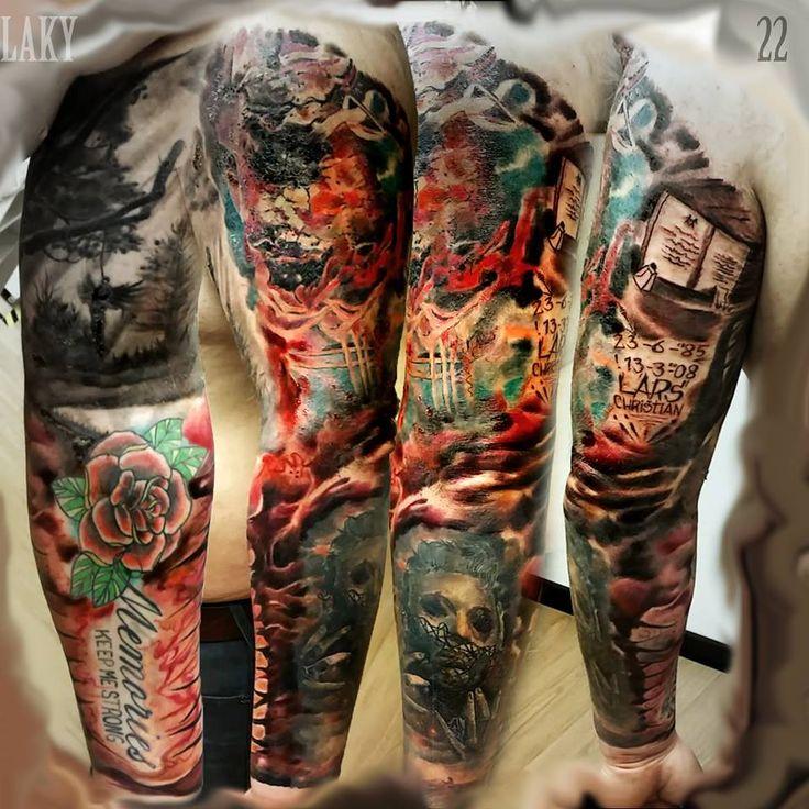 28 Best Dark Color Sleeve Tattoo Images On Pinterest