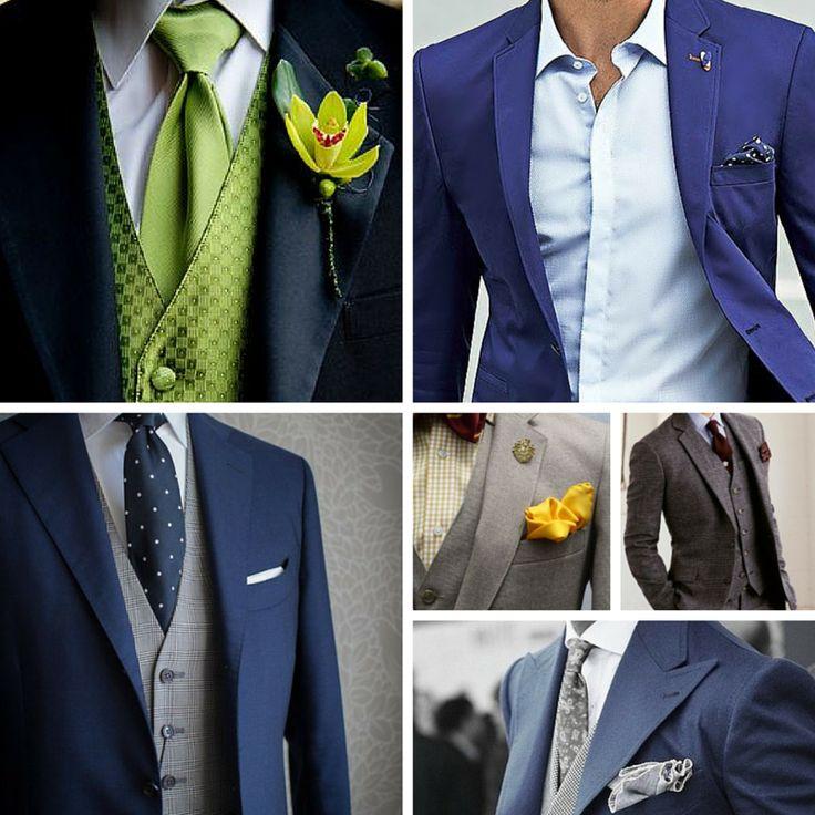 Çiçek, yaka mendili gibi küçük detaylar takım elbiseleri nasıl da değiştiriyor.  Takım elbisenizle fark yaratın.