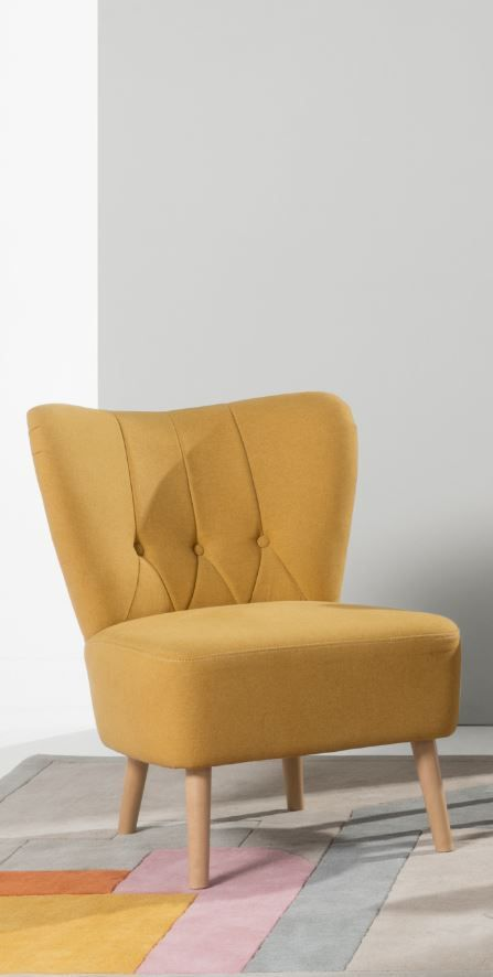 Charley accent chair, £149 MADE.COM Charley is the mid-size accent chair that'll prove its worth. Use it as a classic cocktail chair, a bedroom chair to fling your clothes on or take a seat while you slip on your shoes.