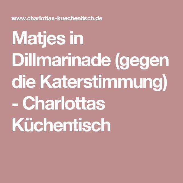 Matjes in Dillmarinade (gegen die Katerstimmung) - Charlottas Küchentisch