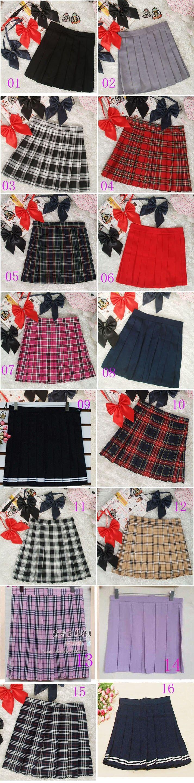 2017 HOT SALE Women Skirts Uniform Preppy Style A Line Tennis Mini Skirt High Waist Pleated Short Plaid Skirts Saias - free shipping worldwide