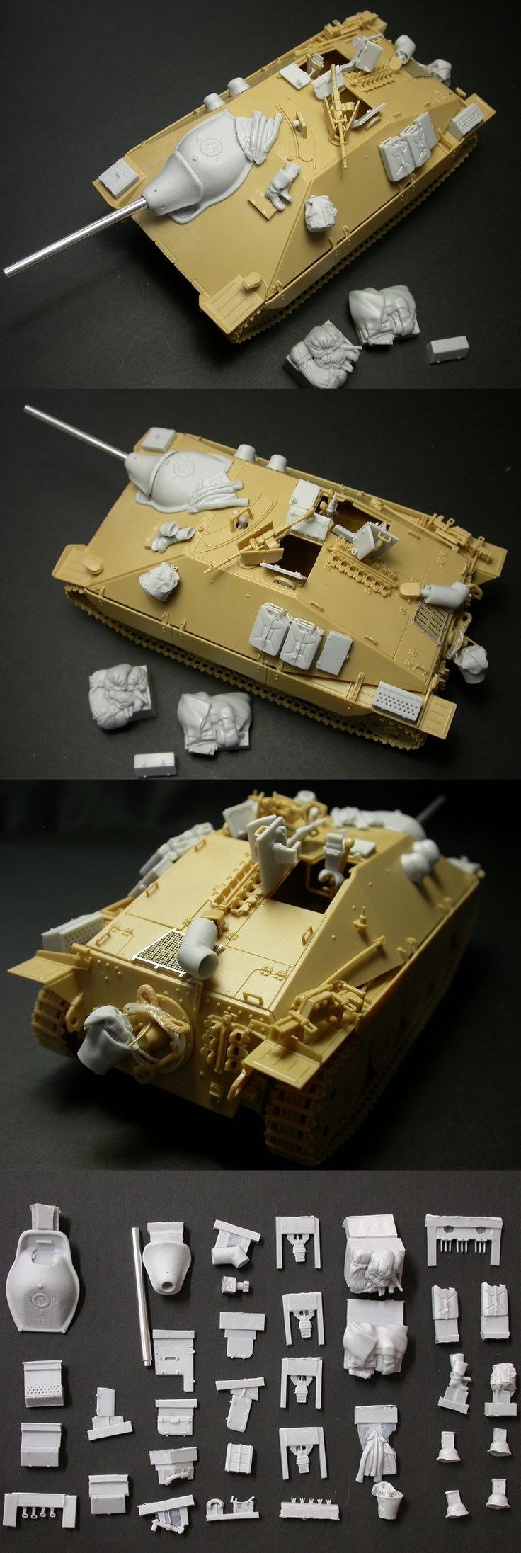 1/35 resincast model WWII German Jagdpanzer 38(t) Hetzer Late Ver. Detail Up (for Academy)