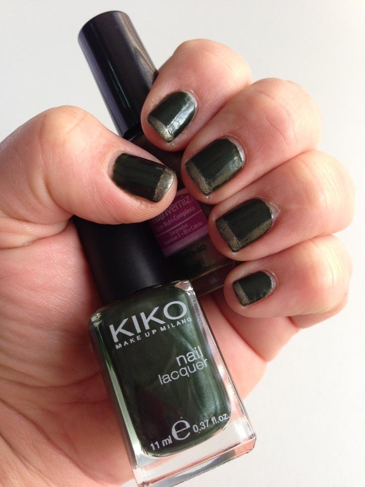 Dark Green french manicure (kiko 392 & Colorama Divirta-se)
