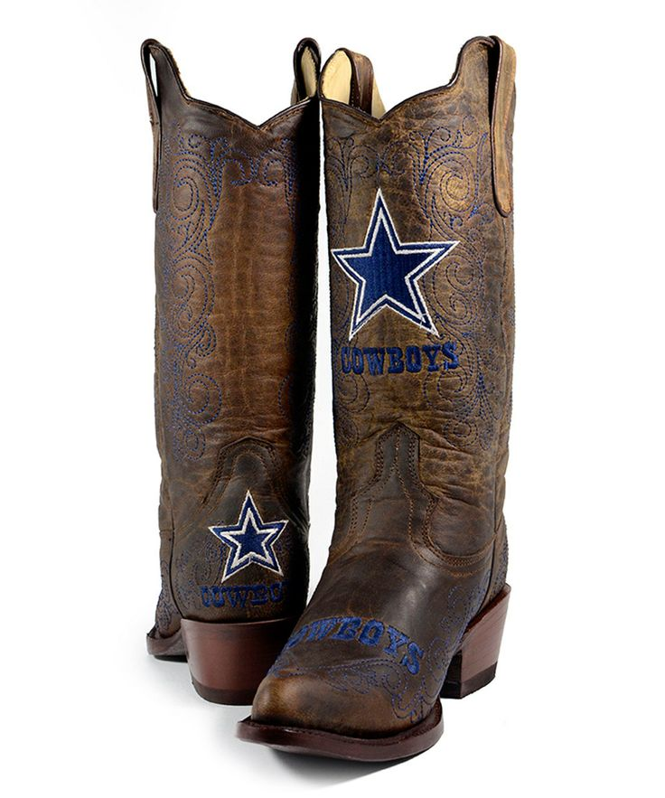 Dallas Cowboys Flyover Cowboy Boot - Women by Old Pro Leather Goods Co. #zulily #zulilyfinds