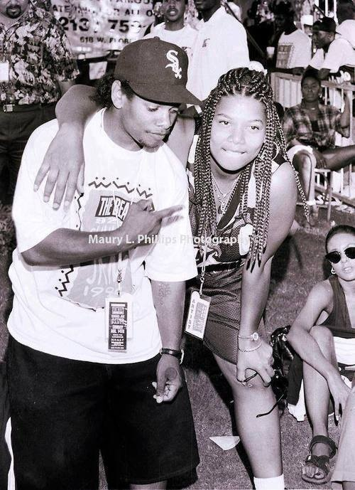 Eazy-E (died from aids. He didnt know he had it and was announced on the radio in the 90's) and Queen Latifah