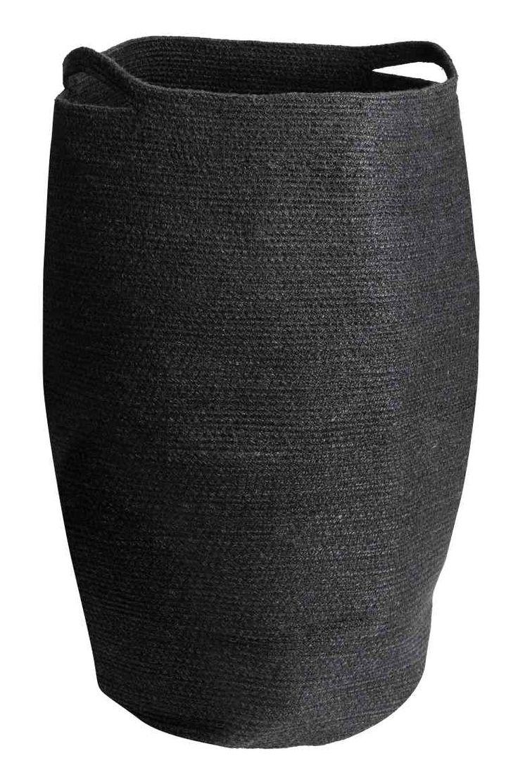 Джутовая корзина для белья - Черный - HOME   H&M RU 1