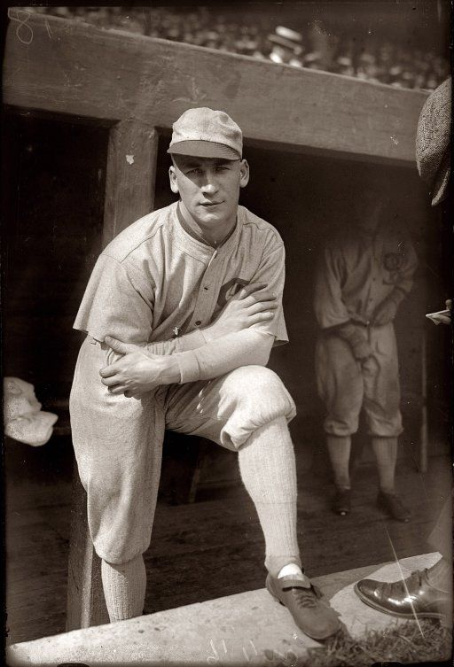 Chicago White Sox centerfielder Oscar Happy Felsch in 1920, his final season in the majors before being banned for life for his role as one of the eight men out who fixed the 1919 World Series.