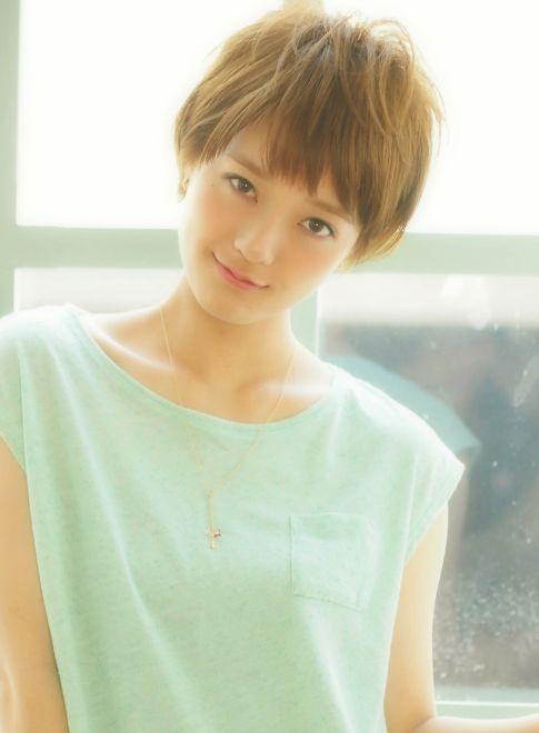 シフォンストレート×ブレンドアッシュ 【Kate】 http://beautynavi.woman.excite.co.jp/salon/25082?pint ≪ #shorthair #shortstyle #shorthairstyle #hairstyle・ショート・ヘアスタイル・髪形・髪型≫
