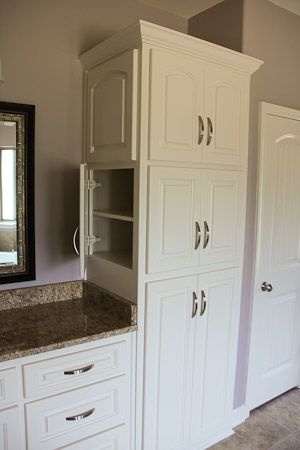 bathroom cabinet idea gary wants the linen closet by sink to open on side like this