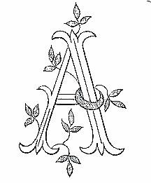 Broderie D'Antan: Embroidery Patterns (Entire Monogram Alphabet)