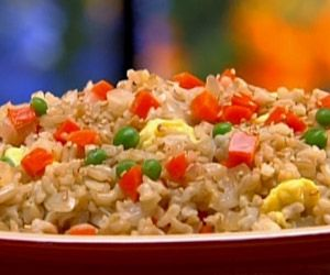 This was so good! I made it with{sorry}white quick rice,it was the BEST fried rice recipe,leftovers will be mixed with shrimp!