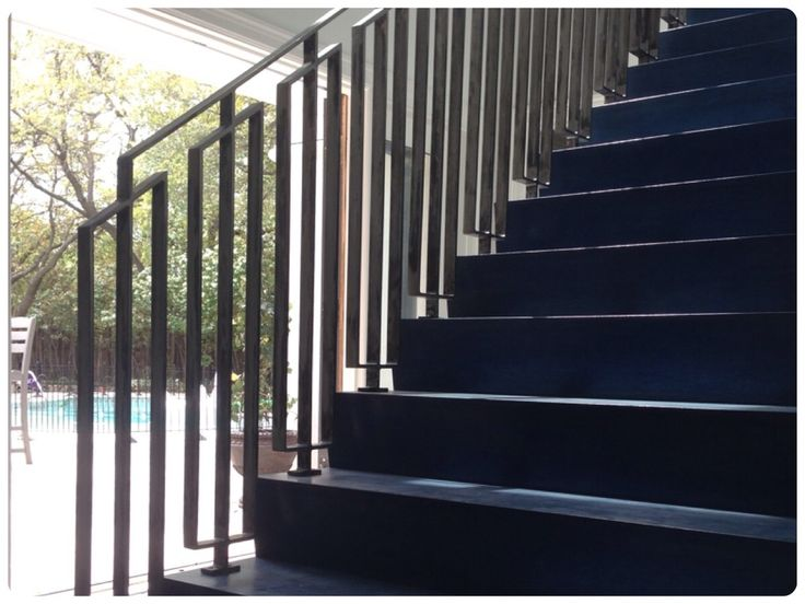 Best Mid Century Stair Rail Modern Stair Railing Modern 640 x 480