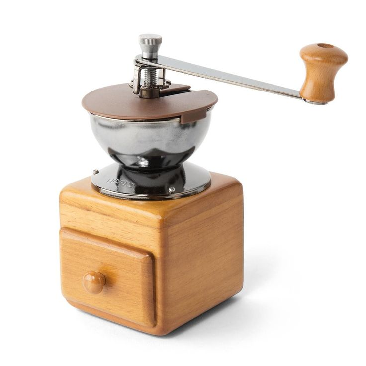 HARIO  Small Coffee Grinder, Manual Burr- WAKE UP.BREW