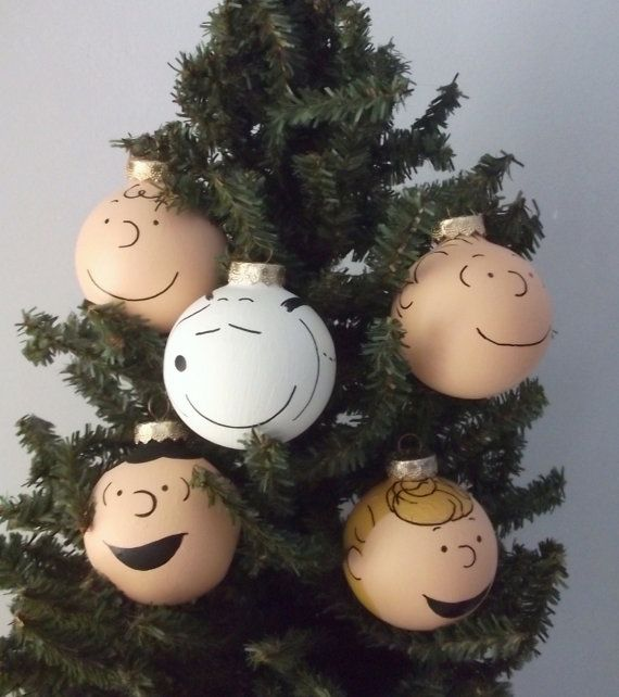 Peanuts Charlie Brown Hand Painted Christmas by GingerPots on Etsy
