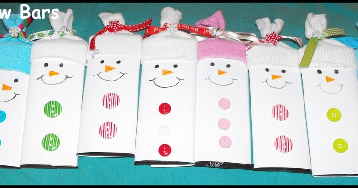 "I LOVE all things snowmen related and I LOVE these little ""snowbars"" as I call them. I originally saw this idea a couple of years back on ..."