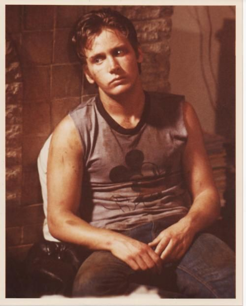 The Outsiders - Without his hair in the ducktail style, he just doesn't look like Two-Bit ... he looks like Emilio lol.