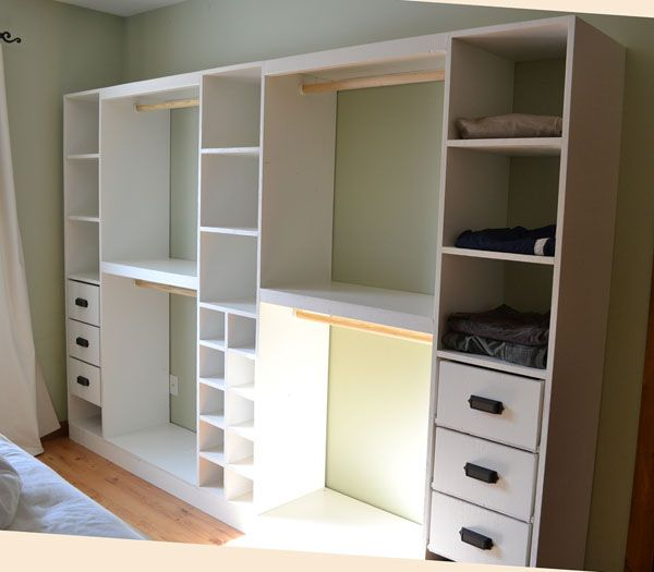 building a walk in closet system woodworking projects plans. Black Bedroom Furniture Sets. Home Design Ideas