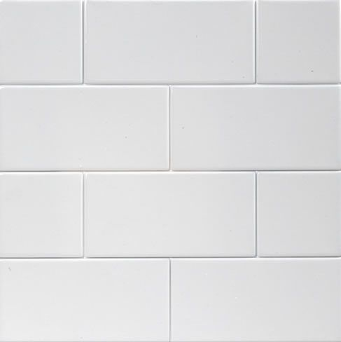 white subway tile on the walls