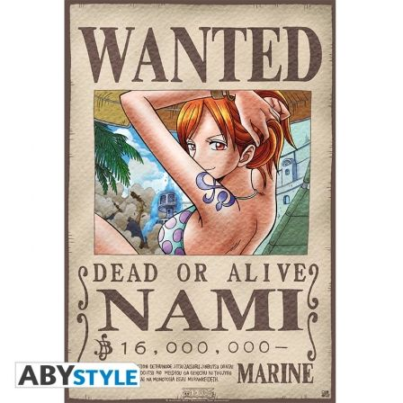 ONE PIECE Poster One Piece Wanted Nami (52X35)