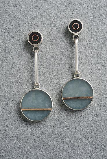 Two Dot Earring: Eileen Sutton: Mixed-Media Earrings - Artful Home