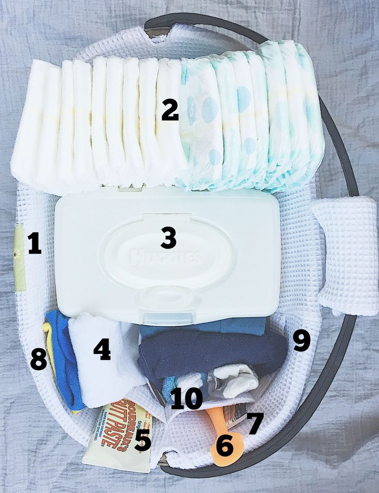 diaper basket new mom organization newborn