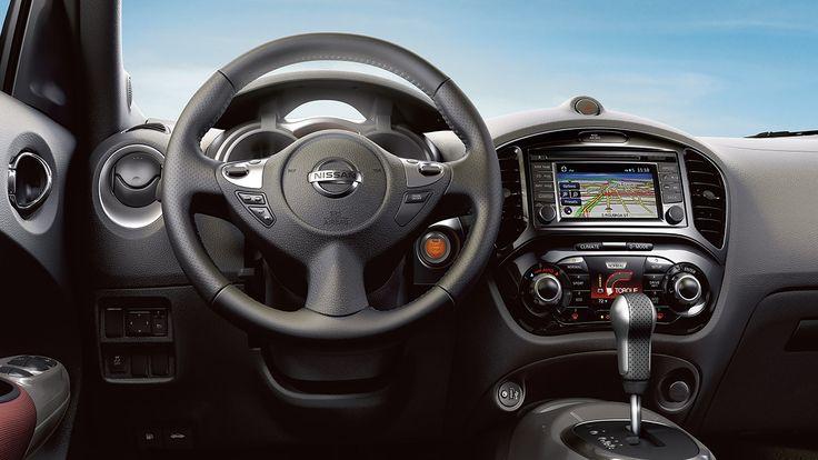 2017 Nissan Juke interior highlighting steering wheel