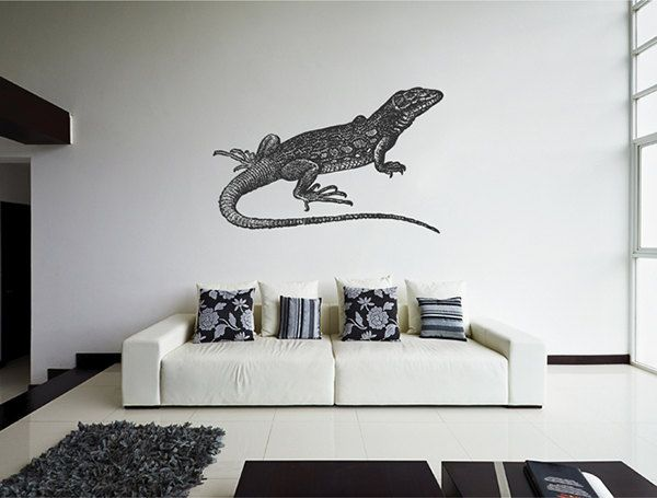 kik2444 Wall Decal Sticker lizard pet reptile vintage living bedroom