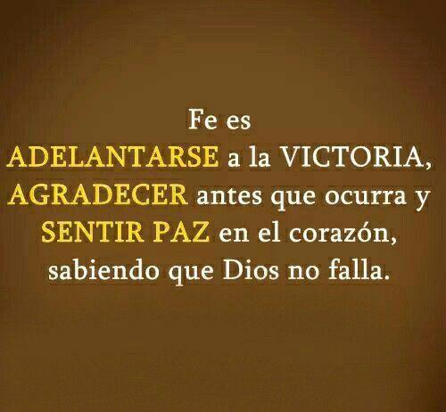 Fe es saber que Dios no falla.