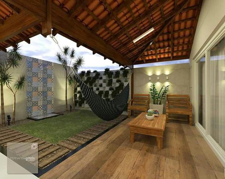 Ideia Para O Quintal Casa Decoración De Patio Exteriores