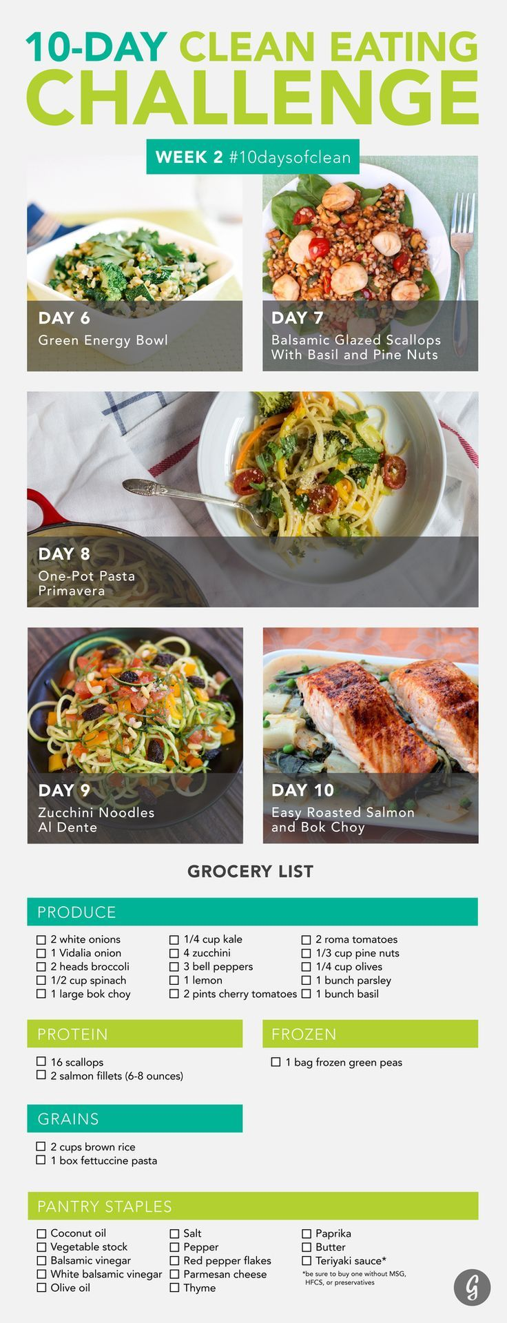 Clean Eating Challenge Week 2 #10daysofclean #healthy #recipes                                                                                                                                                      More