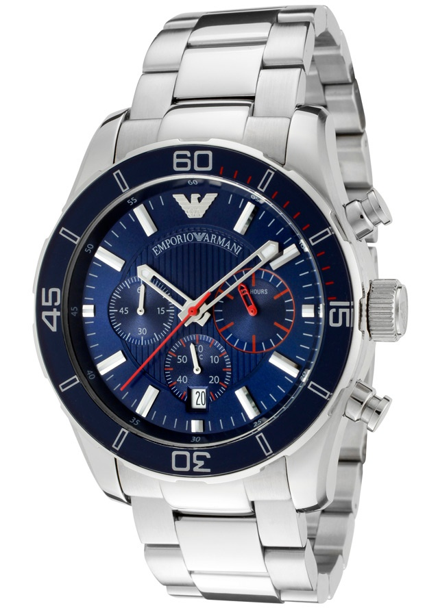 Price:$215.40 #watches Emporio Armani AR5933, Effortlessly matching any suit, this classy Emporio Armani with its cool, bold design, will elegantly go with anyone's style.