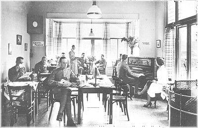 Conversatiezaal algemeen militair tehuis te Bussum, 1939