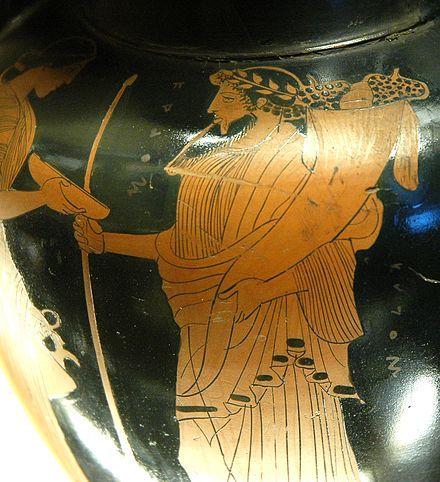 Hadès tenant la corne d'abondance . 470 av. J.-C., musée du Louvre.