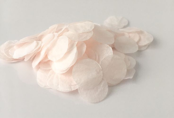 Hand dyed mulberry paper confetti in Blush
