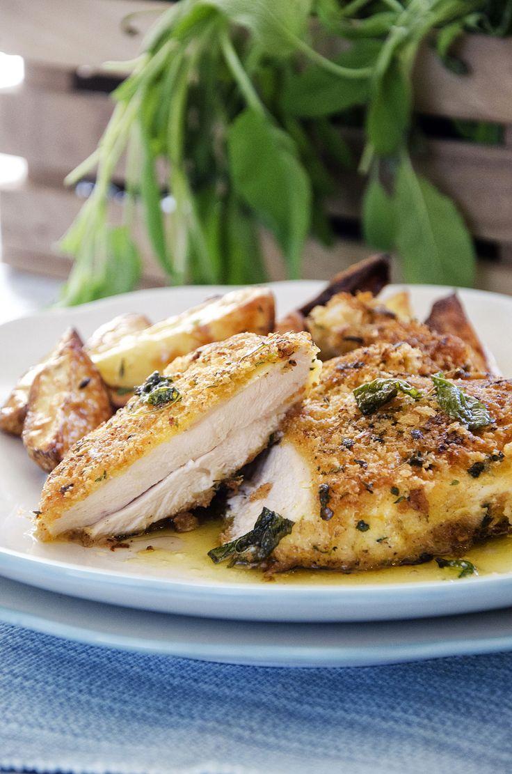 kyllingsnitsel med salvie