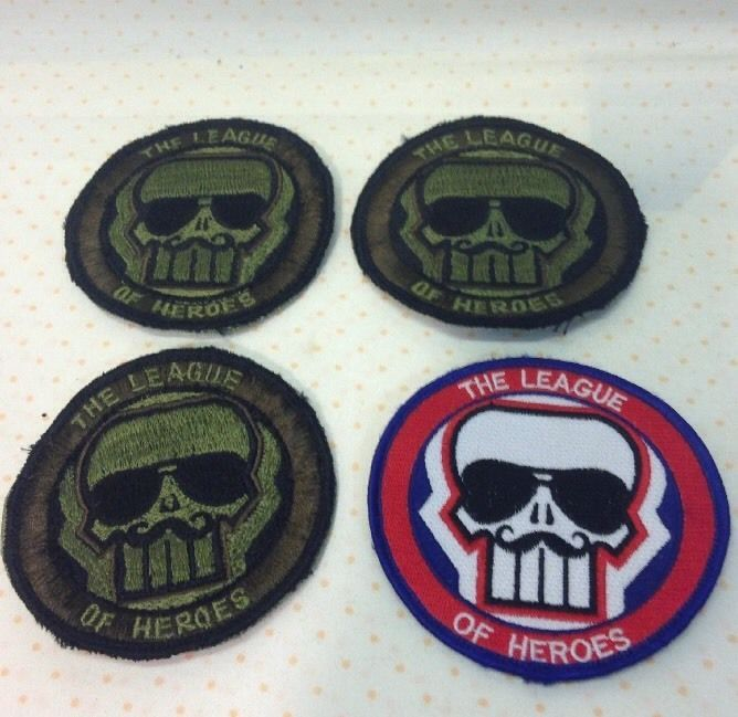 League of Heroes Skull Military Patches | eBay  **ENDING SOON**2DAYS**