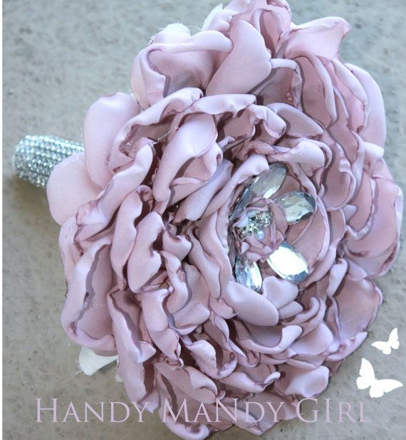 Gorgeous Fabric Lavender  Glamelia Bouquet by HandyMandyGirl, $85.00