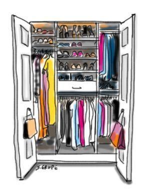 Hier finden Sie eine Schritt-für-Schritt-Anleitung, wie Sie Ihren Kleiderschrank saisonal aktualisieren und organisieren. Mit Prozess-Diagramm als kostenlosem Download.