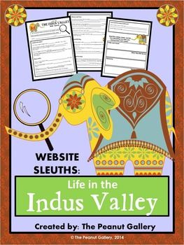 """My Website Sleuth activities are a great way to keep kids engaged during those last days of the school year! Your students will become internet detectives during this """"scavenger hunt"""" web search activity involving life in the Indus Valley (Ancient India). ($)"""