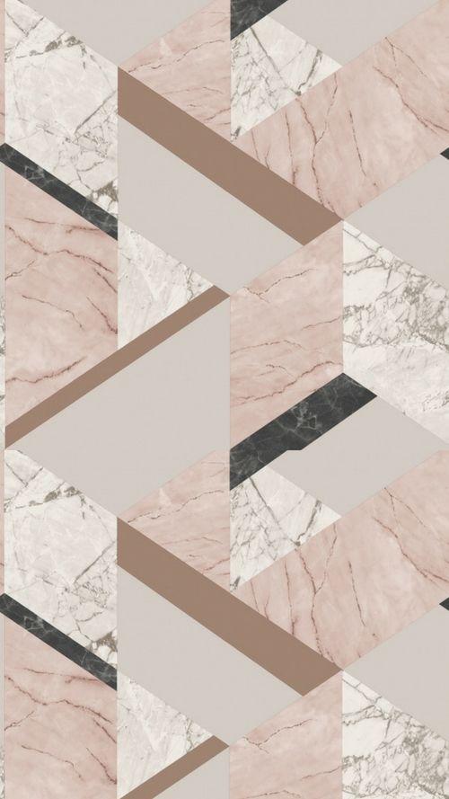 Fine Decor Marblesque Geometric Wallpaper Pink Fd42303