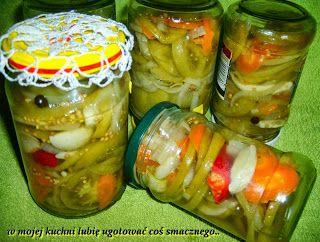 W Mojej Kuchni Lubię.. : zielone pomidory w zalewie słodko-kwaśnej z chilli...