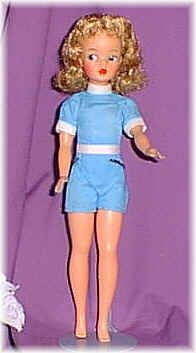 Tammy represented a wholesome all American teenager.   She was sold with several separate outfits.  She appeared on the market in the early 60s around the same time as Barbie was making her mark.  Because Barbie sparked somewhat of a controversy with some moms, Tammy became a good alternative as she seemed to represent the average girl.  Enjoyed many hours playing with TAMMY!!!