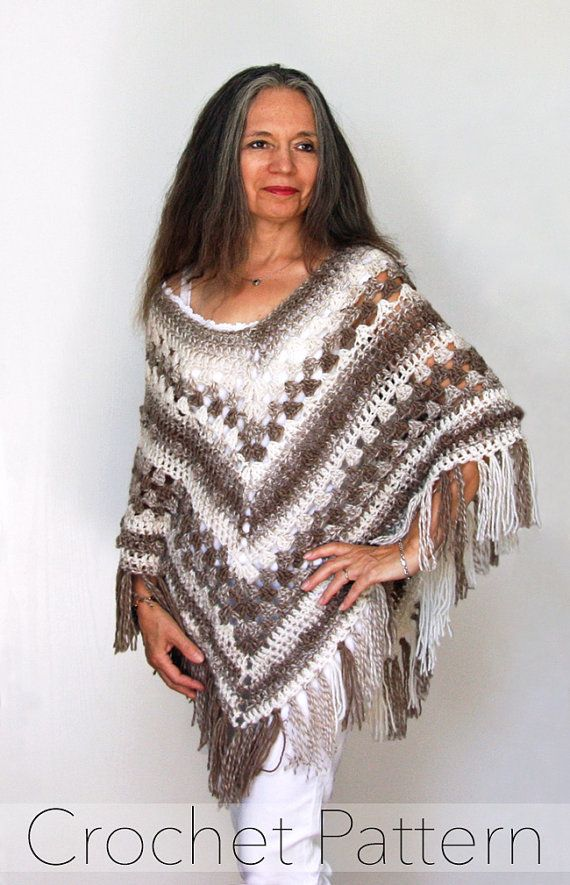 Bella Ombre Poncho Pattern No. 075  Not only are ponchos one of my favourite items to design, they are also one of my favourite accessories to wear. They make layering a breeze and will take you through the changing seasons. This 6 page crochet PATTERN is available for instant download and includes written instructions, photos, and abbreviation keys, to help you successfully create this project.   ~~~~~∞§§∞~~~~~⌘⌘⌘~~~~~⌘⌘⌘~~~~~⌘⌘⌘~~~~~∞§§∞~~~~~  This listing is for a PDF PATTERN ONLY and not…