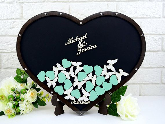 Wedding Guest Book Alternative Wedding Guest Book Heart Guest