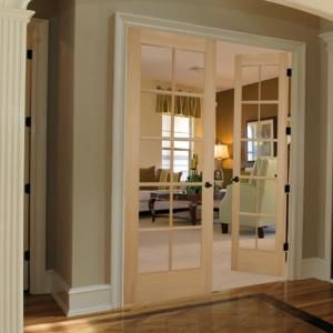 Builder 39 S Choice 48 In X 80 In 10 Lite Clear Wood Pine Prehung Interior French Door Prehung