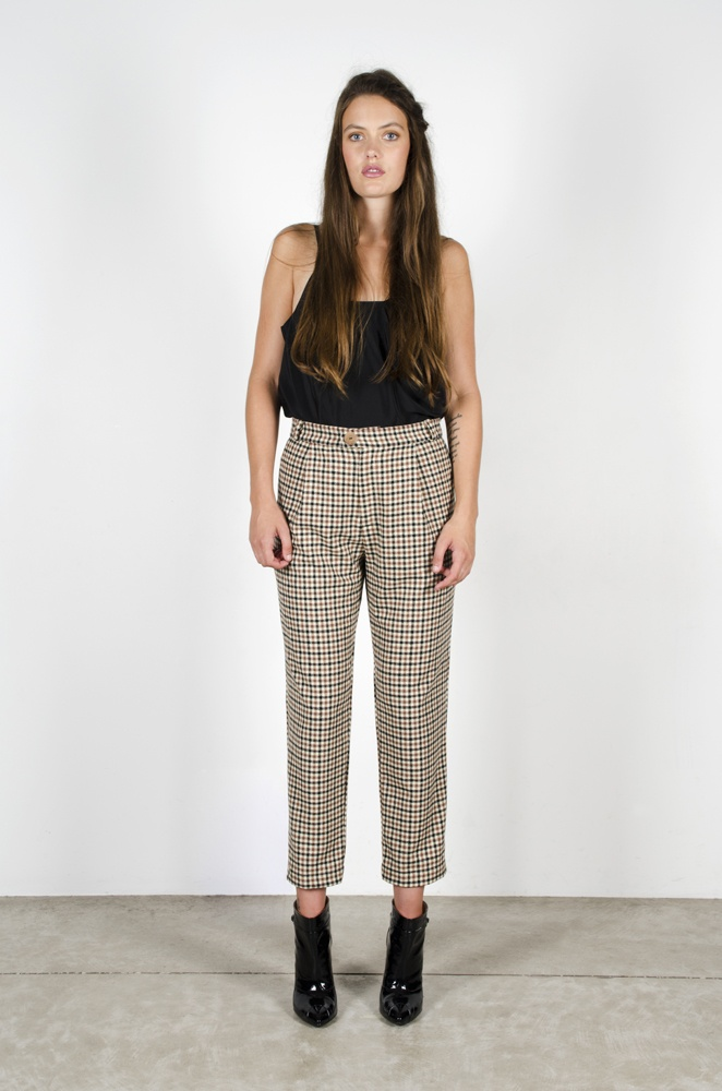 Chimerical Camisole - Black  Pencil Trousers - 'Check'